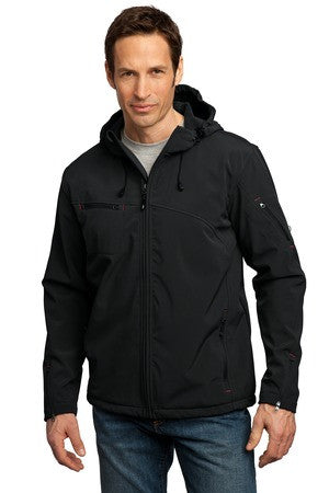 J706 - Textured Hooded Soft Shell Jacket