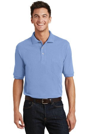 K420P - Pique Knit Polo with Pocket