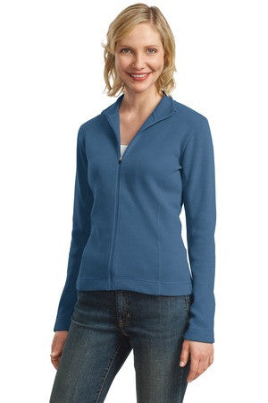 L221 - Ladies Flatback Rib Full-Zip Jacket