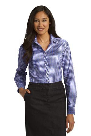 L654 - Ladies Long Sleeve Gingham Easy Care Shirt