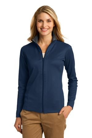 L805 - Ladies Vertical Texture Full-Zip Jacket