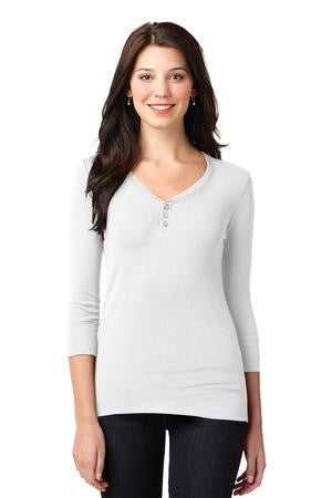 LM1007 - Ladies Concept Stretch 3/4-Sleeve Scoop Henley