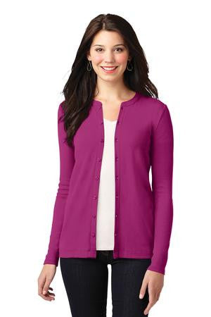 LM1008 - Ladies Concept Stretch Button-Front Cardigan