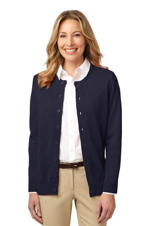 LSW304 - Ladies Value Jewel-Neck Cardigan Sweater