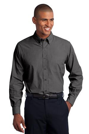 TLS640 - Tall Crosshatch Easy Care Shirt
