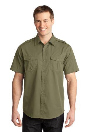 S648 - Stain-Release Short Sleeve Twill Shirt