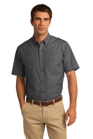 S656 - Short Sleeve Crosshatch Easy Care Shirt