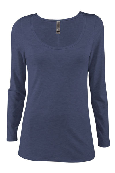 P507T - Ladies Tri-Blend Long Sleeve Scoop Neck Tee
