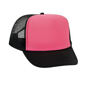 133-107 - Neon Polyester Foam Front Golf Style Mesh Back Cap