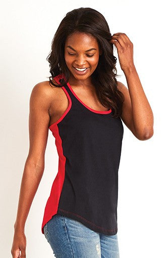 1534 - Women's Ideal Color Black Racer Back Tank