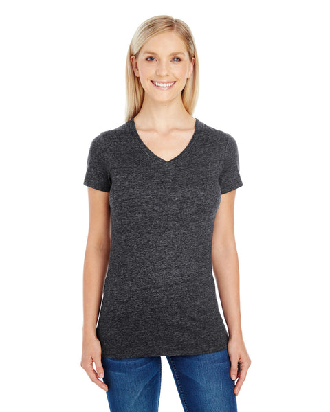 202B - Ladies' Triblend Short-Sleeve V-Neck T-Shirt