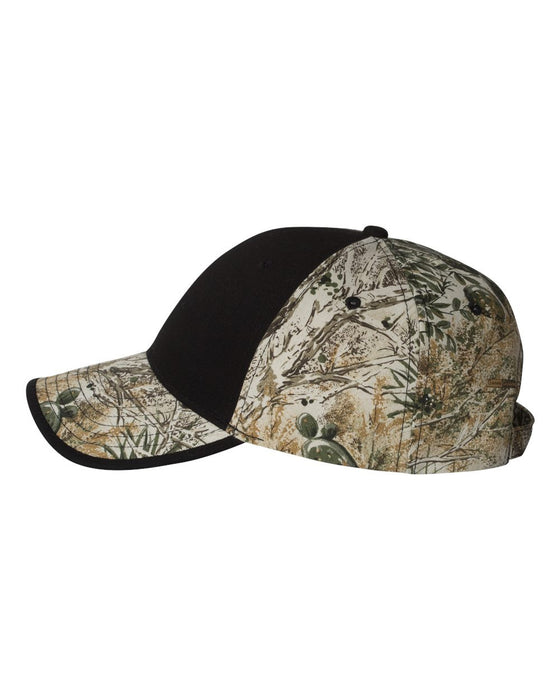 LC102 - Solid Front Camouflage Cap