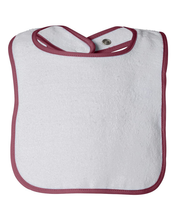 1003 - Infant Contrast Trim Terry Bib