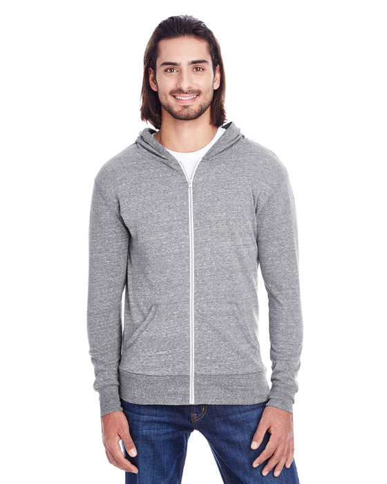 302Z - Unisex Triblend Full-Zip Light Hoodie
