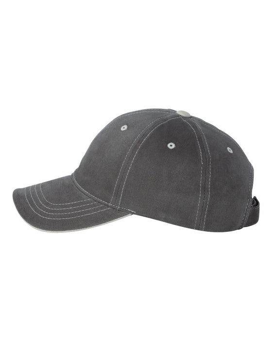 6161 - Contrast Color Stitched Cap