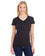 JA8136 - J America Ladies' Glitter V-Neck T-Shirt