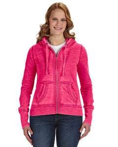 JA8913 - J America Ladies' Zen Full-Zip Fleece Hood