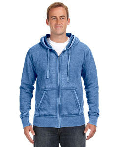 JA8916 - J America Adult Vintage Zen Full-Zip Fleece Hood