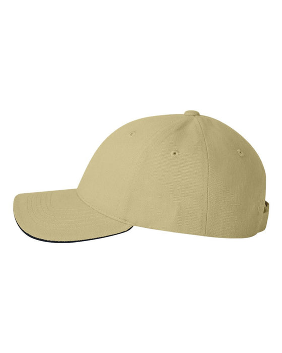 2150- Heavy Brushed Twill Sandwich Cap