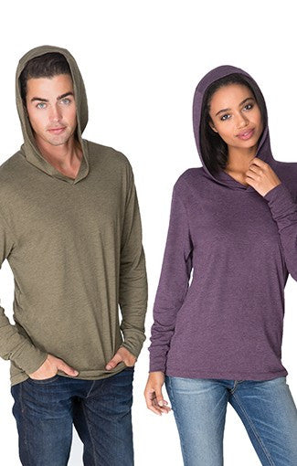 6021 - Unisex Triblend Hooded Tee