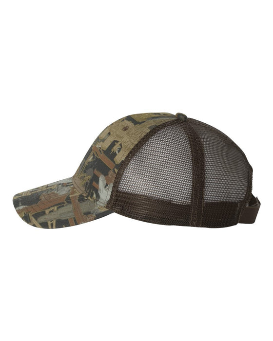 OIL5M- Oil Field Camo Cap With Mesh Back