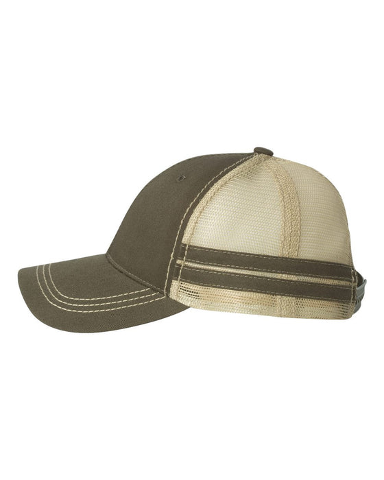 9600- Trucker Cap with Stripes
