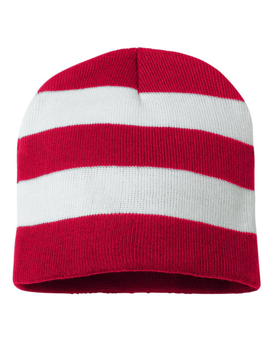 SP01 - Rugby Striped Knit Beanie