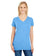 230B - Ladies' Pigment Dye Short-Sleeve V-Neck T-Shirt