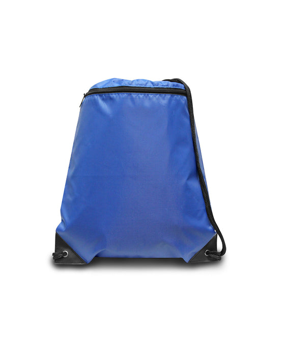 8888 - Zipper Drawstring Backpack