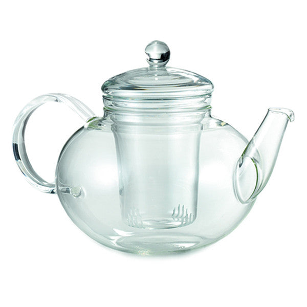 Glass loose leaf teapot