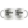 White Mugs - Best Christian Ever