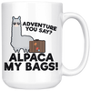 White 15oz Mug - Alpaca My Bags