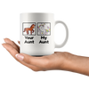 White 11oz Mug - Your Aunt My Aunt Unicorn