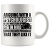 White Mugs - Psychologist Pig In Mud