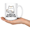 White 15oz Mug - Dungeon Meowster