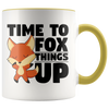 Accent Mug - Fox Things Up