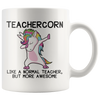 White 11oz Mug - Teachercorn