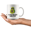 White 11oz Mug - Avocado Good Fat