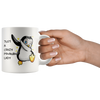 White 11oz Mug - Dabbing Penguin Crazy Lady