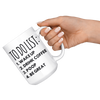 White 15oz Mug - To Do List Poop Be Great