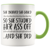 Accent Mug - She Believed She Could Studied
