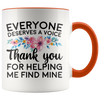 Accent Mug - Speech Therapist Thank You Finding My Voice