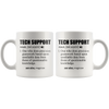 White 11oz Mug - Tech Support Definition