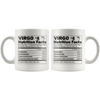 White 11oz Mug - Virgo Nutrition Facts
