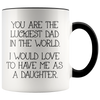Accent Mug - Luckiest Dad In The World