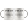 White 11oz Mug - Engineer Definition