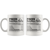 White 11oz Mug - Pisces Nutrition Facts