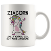 White 11oz Mug - Ziacorn
