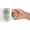 White 11oz Mug - I Know I Swear A Lot