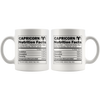 White 11oz Mug - Capricorn Nutrition Facts